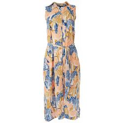Print Sleeveless Midi Dress