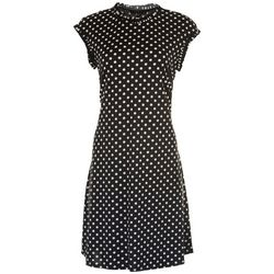 Tiana B Womens Polka Dot Dress With Ruffle Details