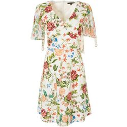 Tiana B Short Sleeve Floral Sundress