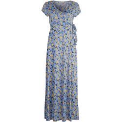 Womens Side Tie Floral Long Dress