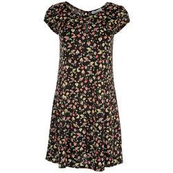 Womens Floral Short Sleeve Dress