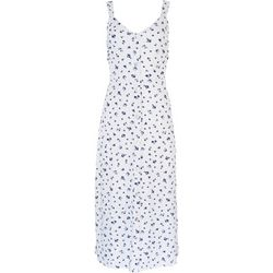 Gilli Womens Faux Button Down Floral Midi Dress