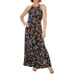 Gilli Womens High Neck Flora Dress