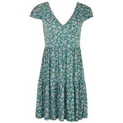 Womens Tiered Floral Dress