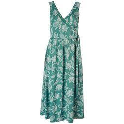 Gilli Womens V-Neck Faux Tie Dress