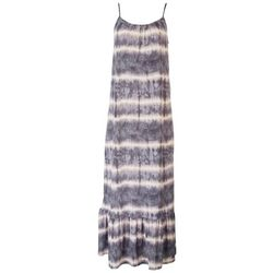 Gilli Womens Tie-Dye Slip Maxi Dress