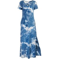 Gilli Womens Tie-Dye Soft Maxi Dress