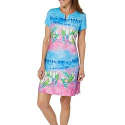 Leoma Lovegrove Womens Party Line Notch Neck Dress