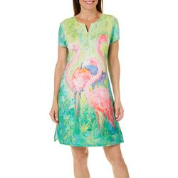Leoma Lovegrove Womens The Soiree Notch Neck Dress