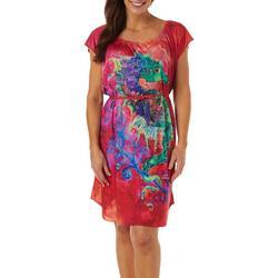 Womens Seahorse Soiree T-Shirt Dress