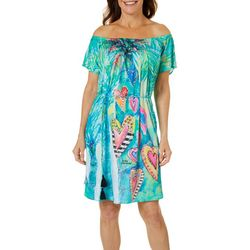 Womens Heart Of Palm T-Shirt Dress