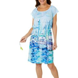 Leoma Lovegrove Womens Moody Blues T-Shirt Dress