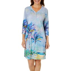 Womens Solo Henley Neck Dress
