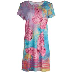 Leoma Lovegrove Womens Butterfly T-Shirt Dress