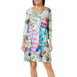Ellen Negley Womens Hurrary For The Holidays Sundress