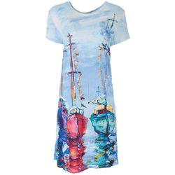 Leoma Lovegrove Womens Boat Artwork Dress