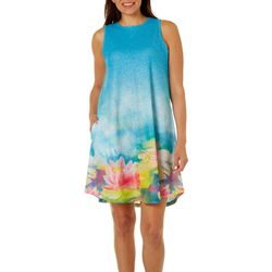 Dawn Davis Womens Water Lily Love Dress