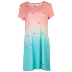 Leoma Lovegrove Womens All-over Flamingos T-Shirt Dress