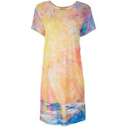 Leoma Lovegrove Womens Sunset Artwork Dress