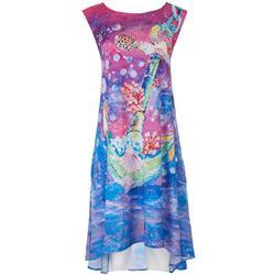 Womens Leomas Anchor Art Work Tank Dress