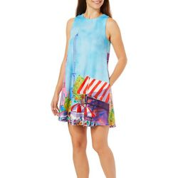 Ellen Negley Womens Perfectly Paris Sundress