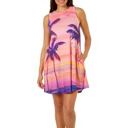 Ellen Negley Womens Shaded Sunsets Sundress