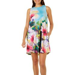 Ellen Negley Womens Warm Flowers Sundress