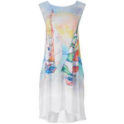 Womens Leomas Boats Art Work Tank Dress