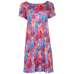 Leoma Lovegrove Womens Neon Seahorses T-Shirt Dress