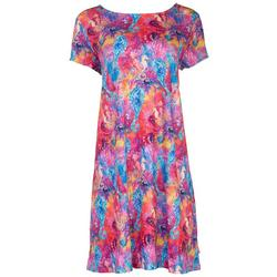 Womens Neon Seahorses T-Shirt Dress