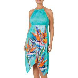 Leoma Lovegrove Womens Local Color Chain Halter Sundress
