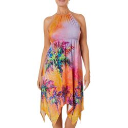 Leoma Lovegrove Womens Parade of Palms Chain Halter Sundress