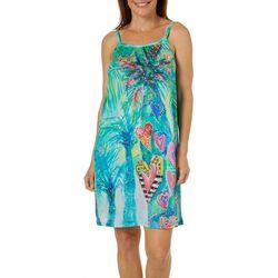 Leoma Lovegrove Womens Hearts Of Palm Sleeveless Sundress