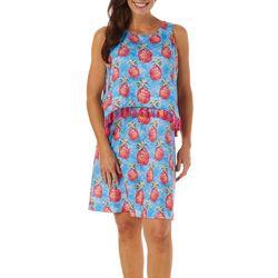 Womens Pineapple Paradise Pop Over Dress