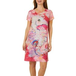 Womens Seahorse T-Shirt Dress