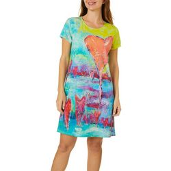 Womens Heart T-Shirt Dress