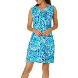 Sunsets and Sweet Tea Womens Paisley Print Shift Dress