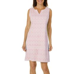 Sunsets and Sweet Tea Womens Geometric Print Shift Dress
