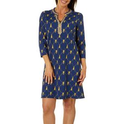 Sunsets and Sweet Tea Womens Seahorse Embroidered Dress