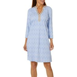 Sunsets and Sweet Tea Womens Geometric Embroidered Dress