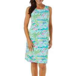 Sunsets and Sweet Tea Womens Tropical Beach Design Dress