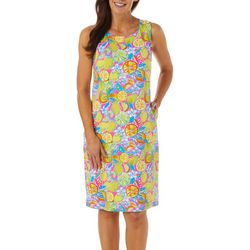 Sunsets and Sweet Tea Womens Tropical Fruit Print Dress