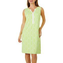 Sunsets and Sweet Tea Womens Geometric Print Shift Dress