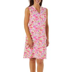 Sunsets and Sweet Tea Womens Flamingo Print Dress