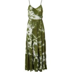 Womens Tie Dye Tiered Maxi Dress