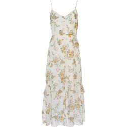 LUSH Womens Floral Ruffle Maxi Dress