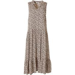 Womens Sleeveless Floral Lined Dress