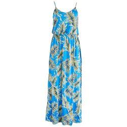 LUSH Womens Green Foliage Maxi Dress