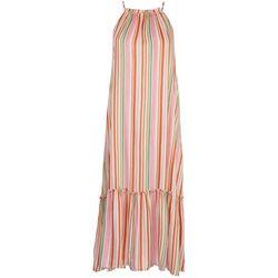 LUSH Womens Ruffled Midi Dress