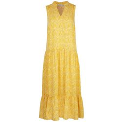 LUSH Womens Mandarin Collar Midi Dress
